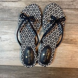 Kate Spade Mistic Bow Flat thong sandal New